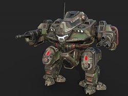 3D机器人模型及贴图制作