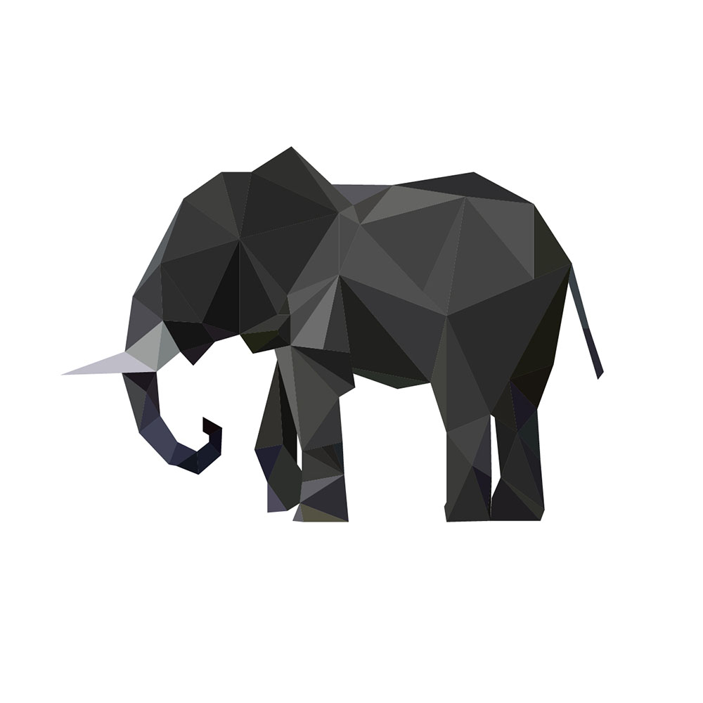 呆萌可爱大象图片