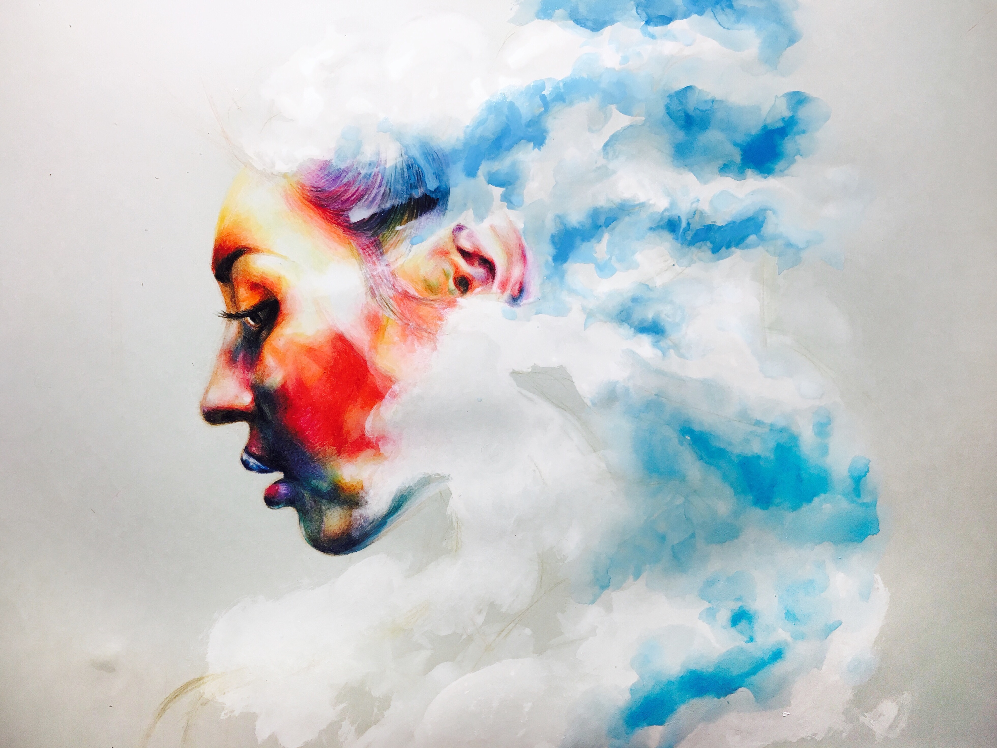 云雾——手绘彩铅