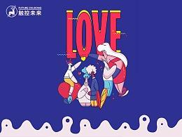 """LOVE""主题——UI设计作品2"