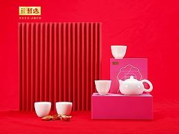 【 中国白·哲选 】辈辈有福 西施浣纱茶具 大师纯手工