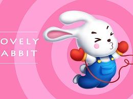 Q版的兔兔和猪猪