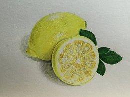 【驴大萌彩铅教程164】手绘水果—柠檬