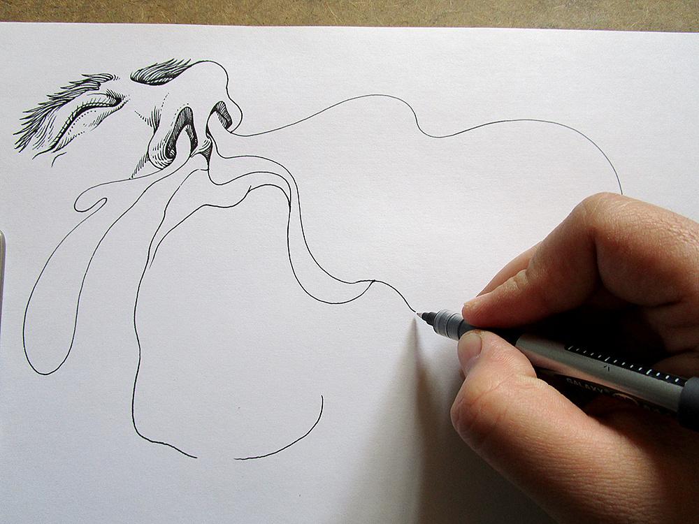 《感冒记》手绘过程图