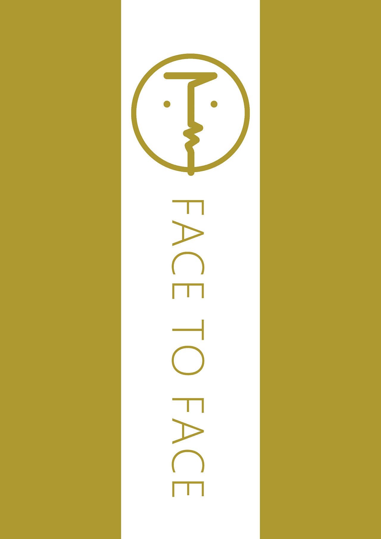logo为双关图形,左右两边看上去像是两个人脸在面对面地展开交流互