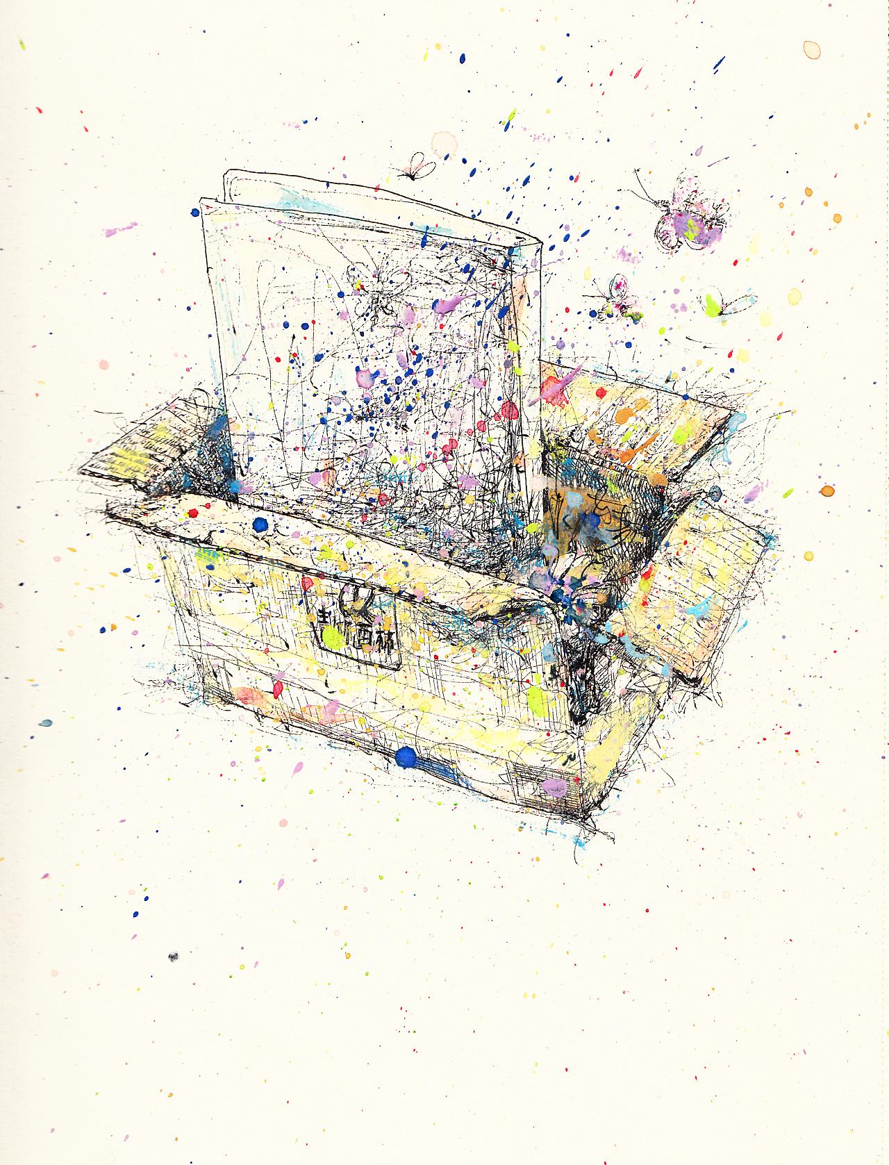 水粉淡彩画_ZD黑白插画-淡彩-速写成长日记|插画|插画作|ZDshouhui-原创作品