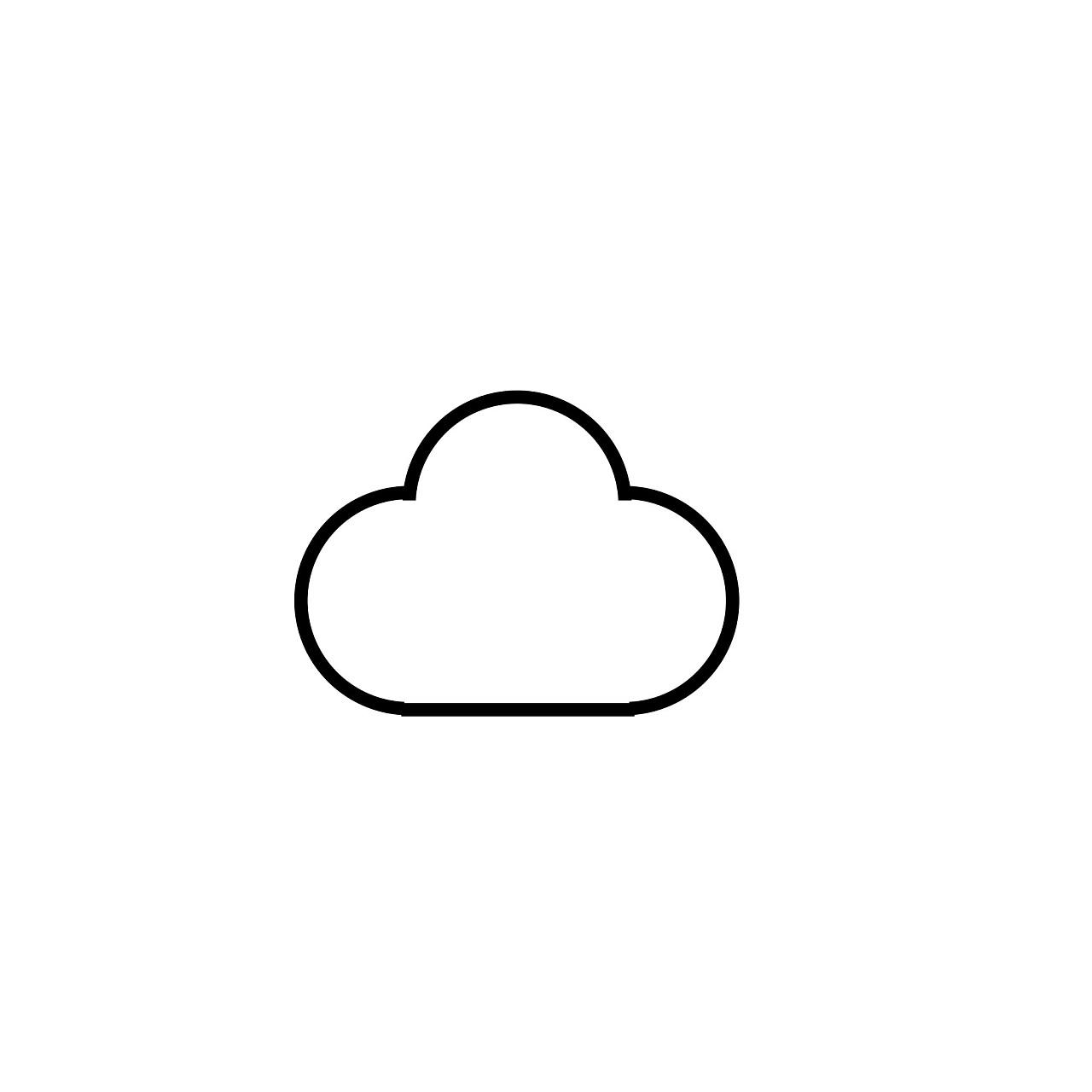 云彩图片简笔画