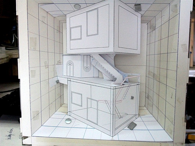 手绘家具立体图