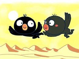 #小矛毁童年#乌鸦喝水37,小乌鸦为什么感觉心里美滋滋