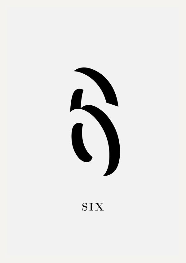 1-9数字