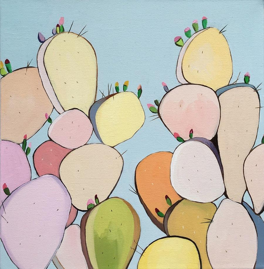 仙人掌 油画 插画|油画|纯艺术|毛绒绒的蘑菇 - 原