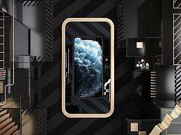 C4D iPhone 11 Pro手机(临摹案例)