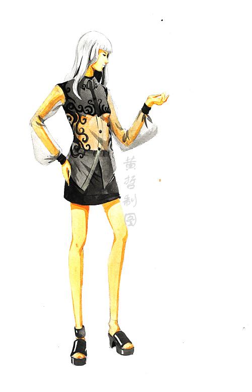 马克笔手绘系列——黄哲老师|休闲/流行服饰|服装