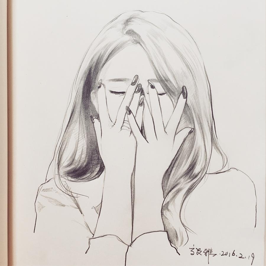 日常人物绘图—tara|绘画习作|插画|burger_gao