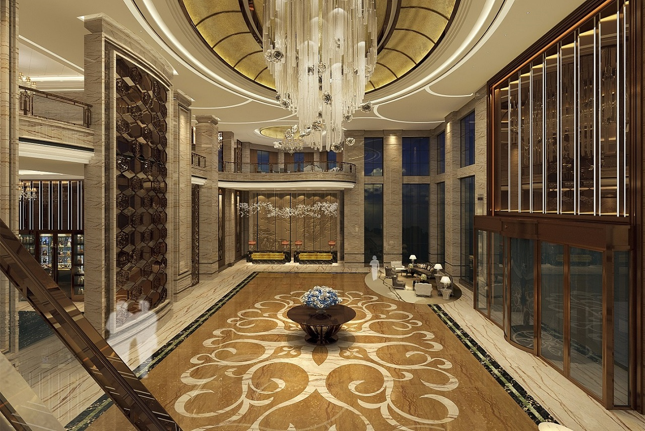 德阳万豪商务房屋装修|德阳商务大全装修设计宾馆设计图3d效果图酒店