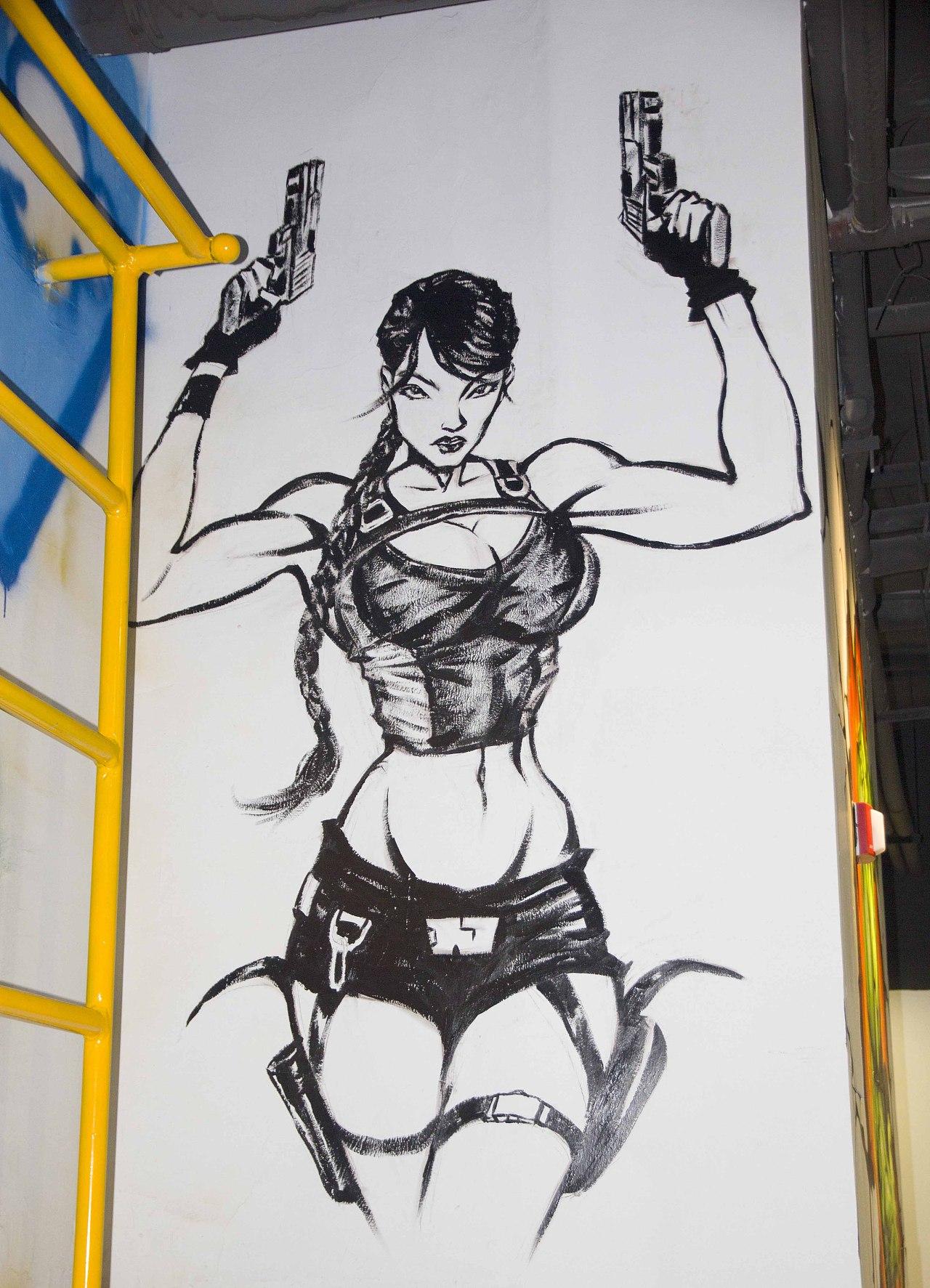 健身房手绘涂鸦