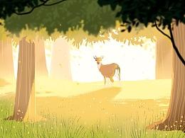 森林里的小鹿。
