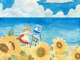 画匣子 小绘本 花间市集《花之恋》