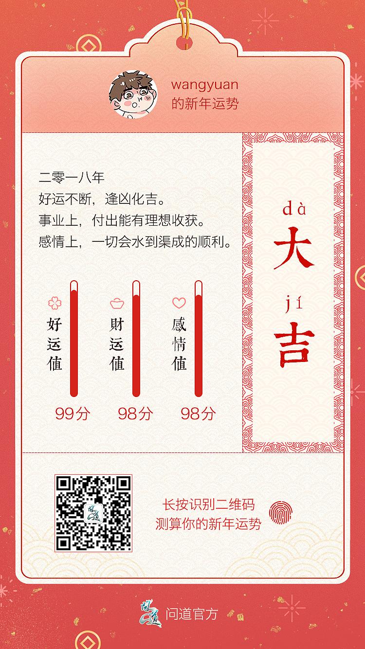 测算微信新年攻略问道v攻略运势成都重庆稻城自助游页面图片