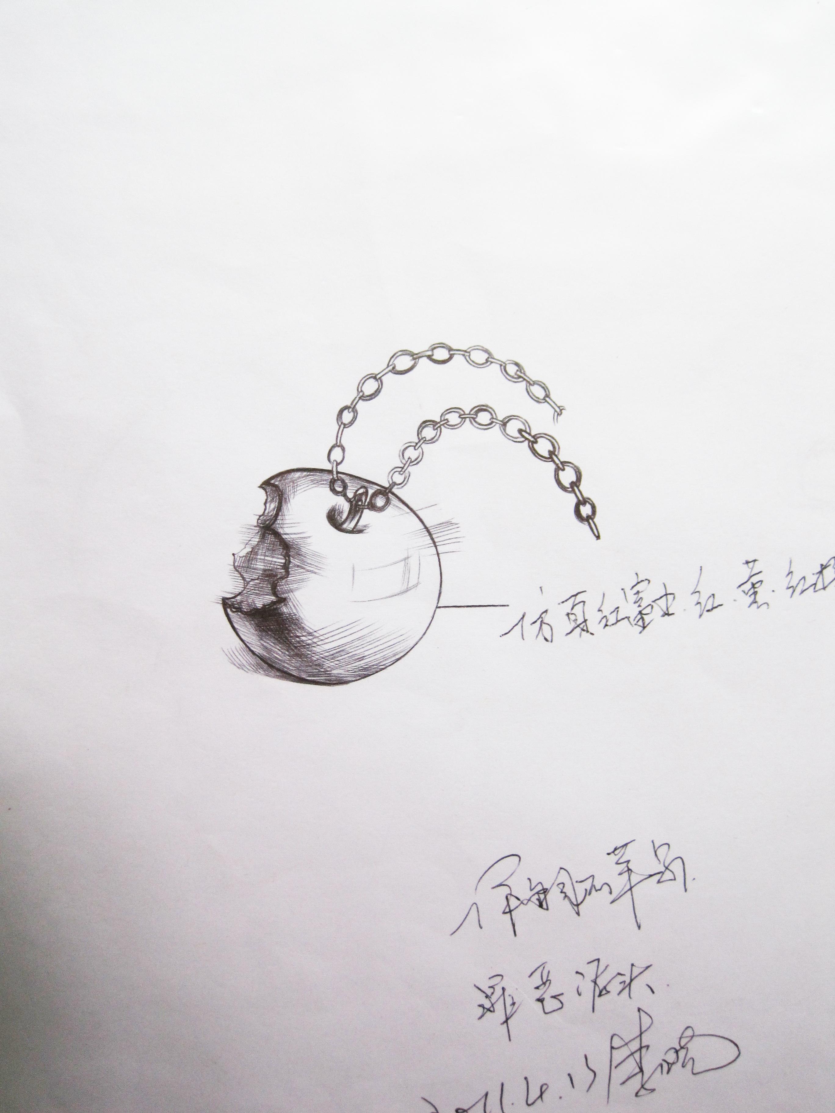 珠宝手绘小稿