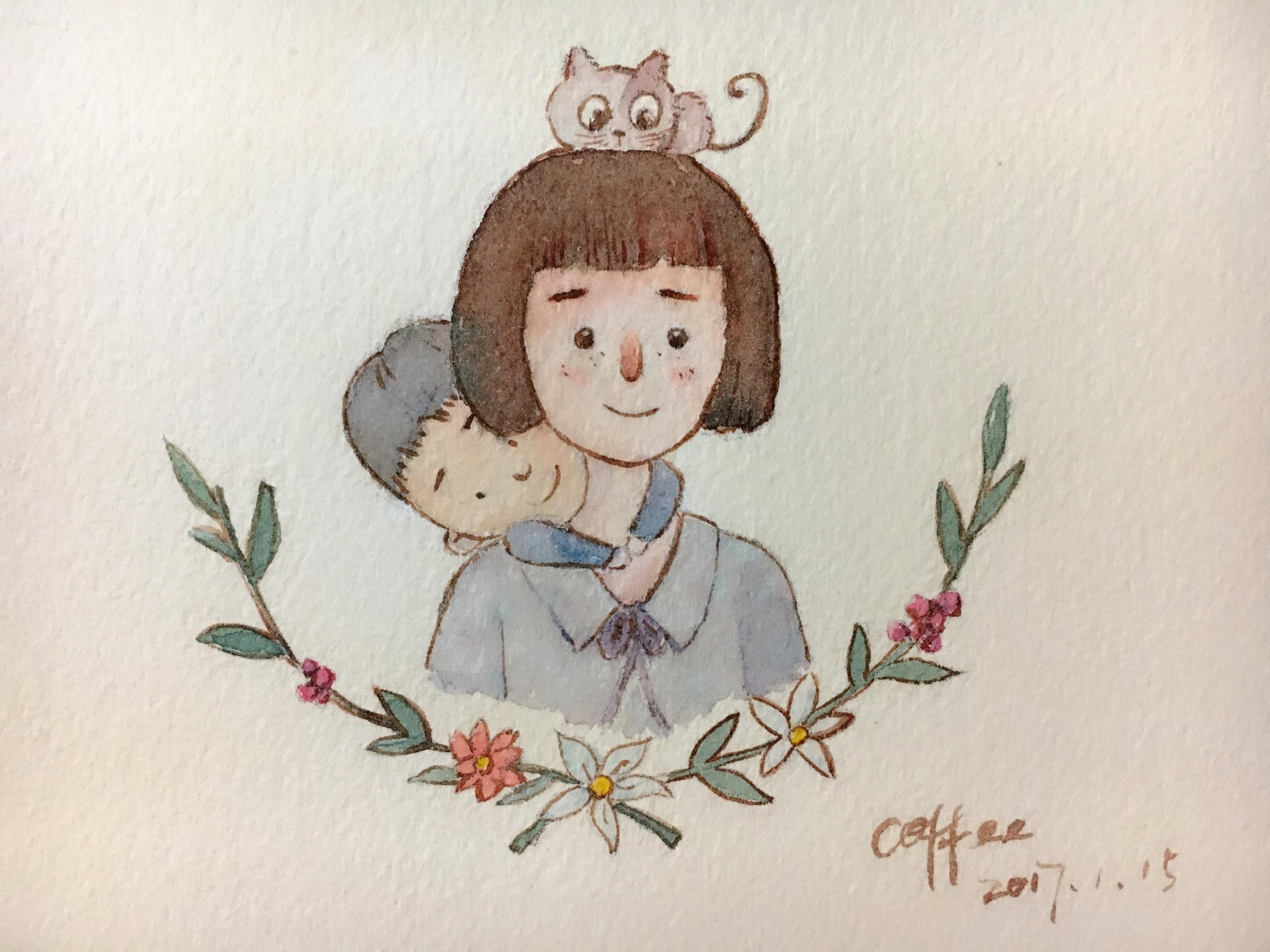 原创水彩手绘作品 插画 儿童插画 momofj - 原创作品