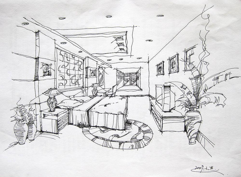 09年画的室内手绘