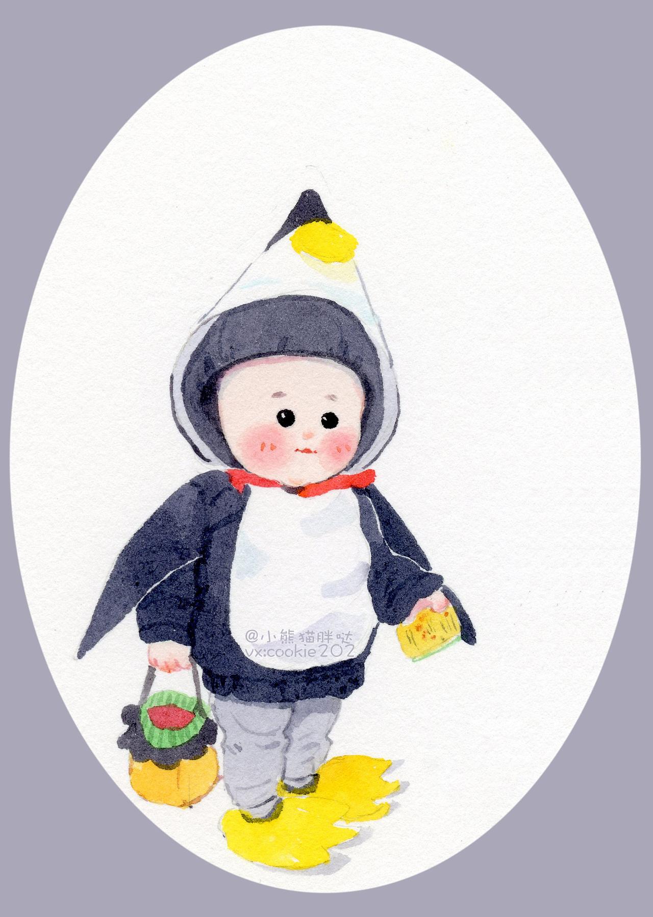 【小熊猫胖哒】水彩人物水彩教程小孩头像水彩宝宝画像