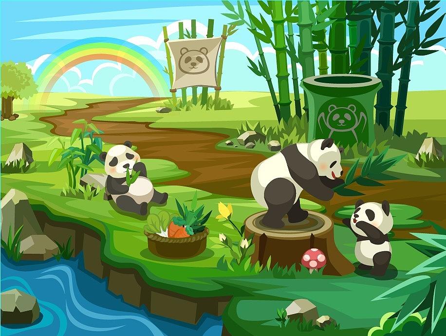 萌萌的熊猫,笨笨的可爱!
