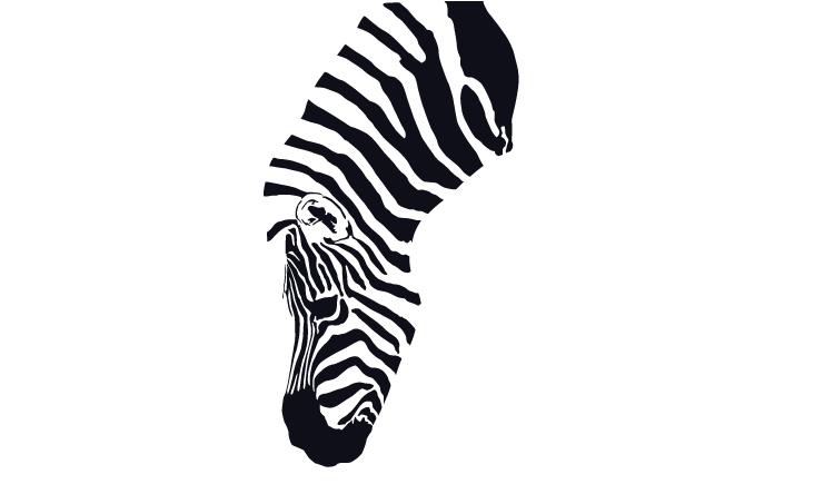 斑纹动物剪影 图形/图案 平面 beiyuye