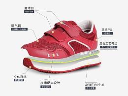 运动鞋电商图片常规拍摄-郑州产品拍照