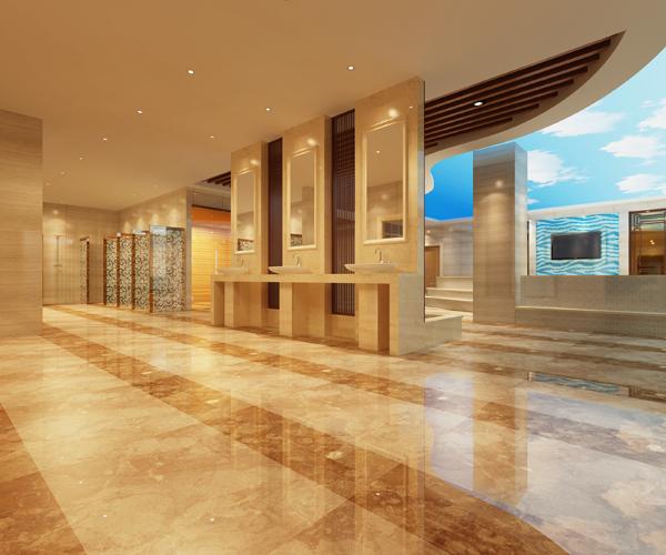 荥阳碧泉洗浴会所装修设计效果图|郑州洗浴装修设计
