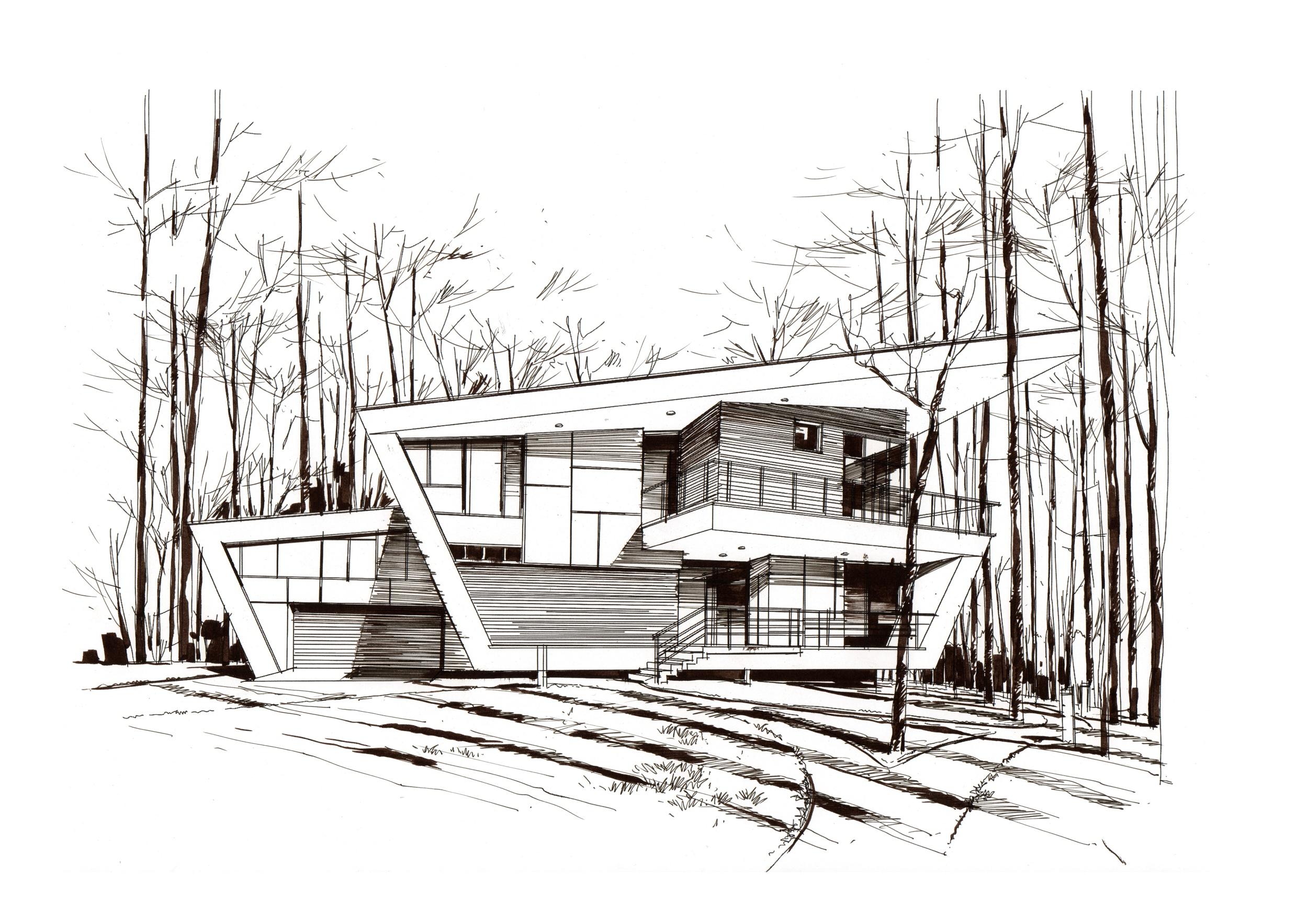 建筑手绘|空间|建筑设计|pengbobo - 原创作品 - 站酷