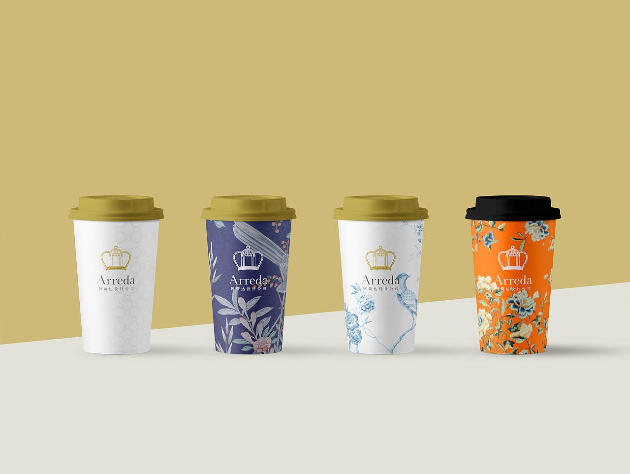 纸杯设计_品牌辅助图案,logo应用图片