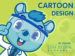 硅碳鼠logo及卡通形象设计【指上花开】