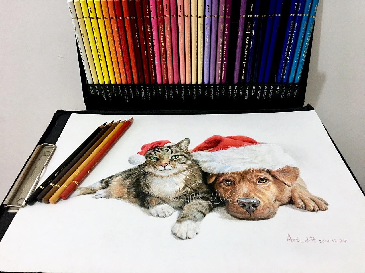 彩铅作品——圣诞