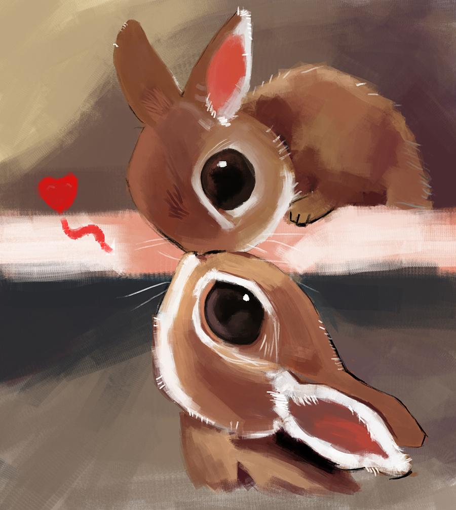 可爱的小动物,可惜我画得一点都不好