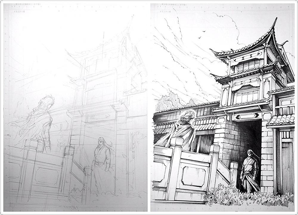 手绘练习-漫画场景篇|动漫|单幅漫画|冰仔 - 原创作品