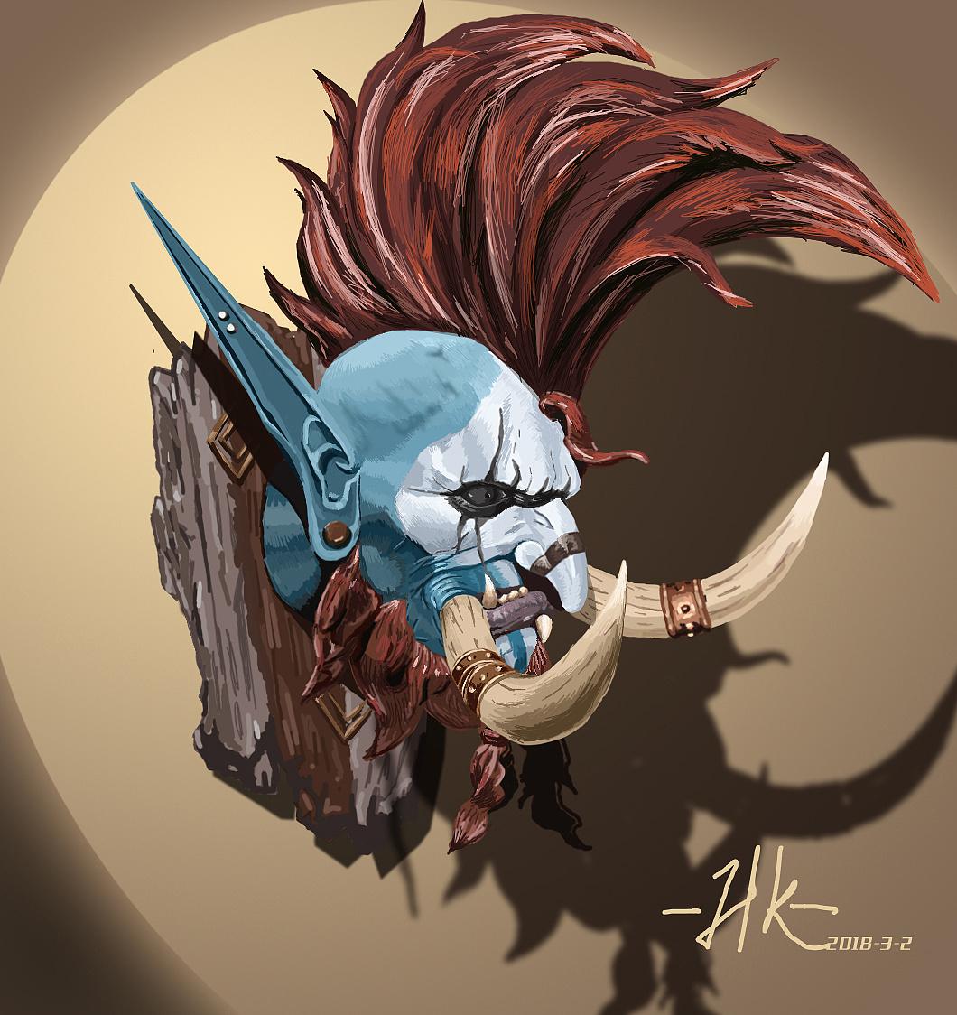 魔兽世界 手绘 巨魔插画