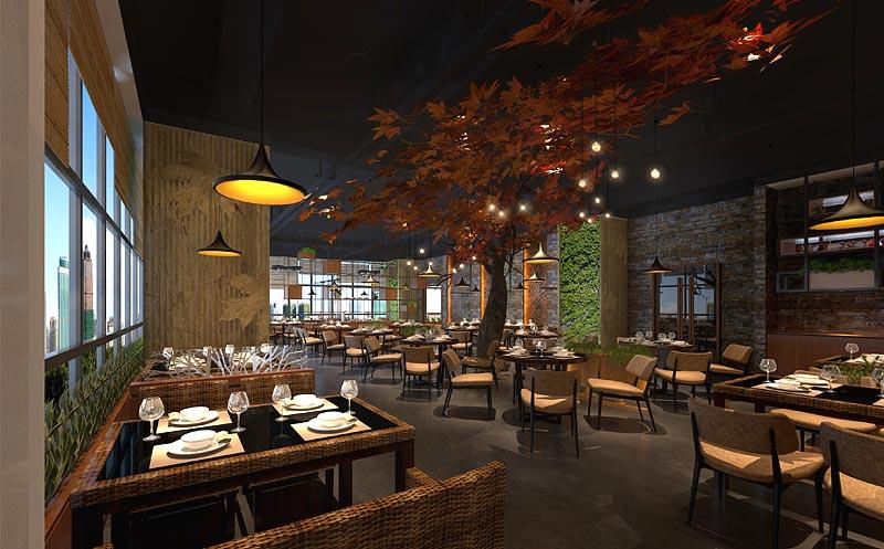 水主题餐厅火锅店装修设计-水主题餐厅