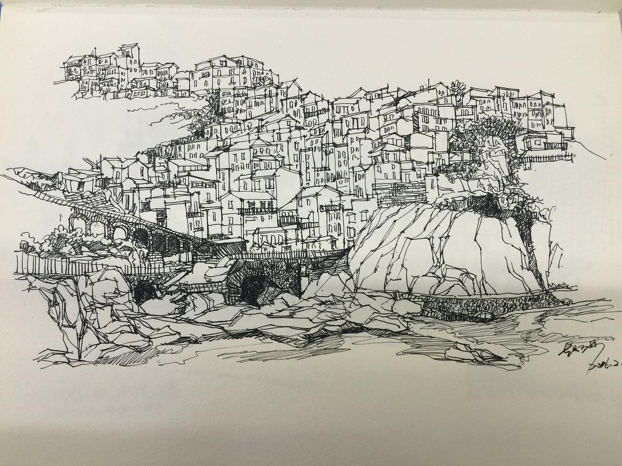 钢笔画临摹04