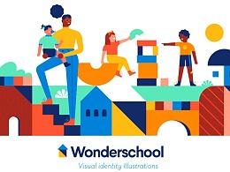 Lorena受邀为Wonder School学校打造品牌视觉设计