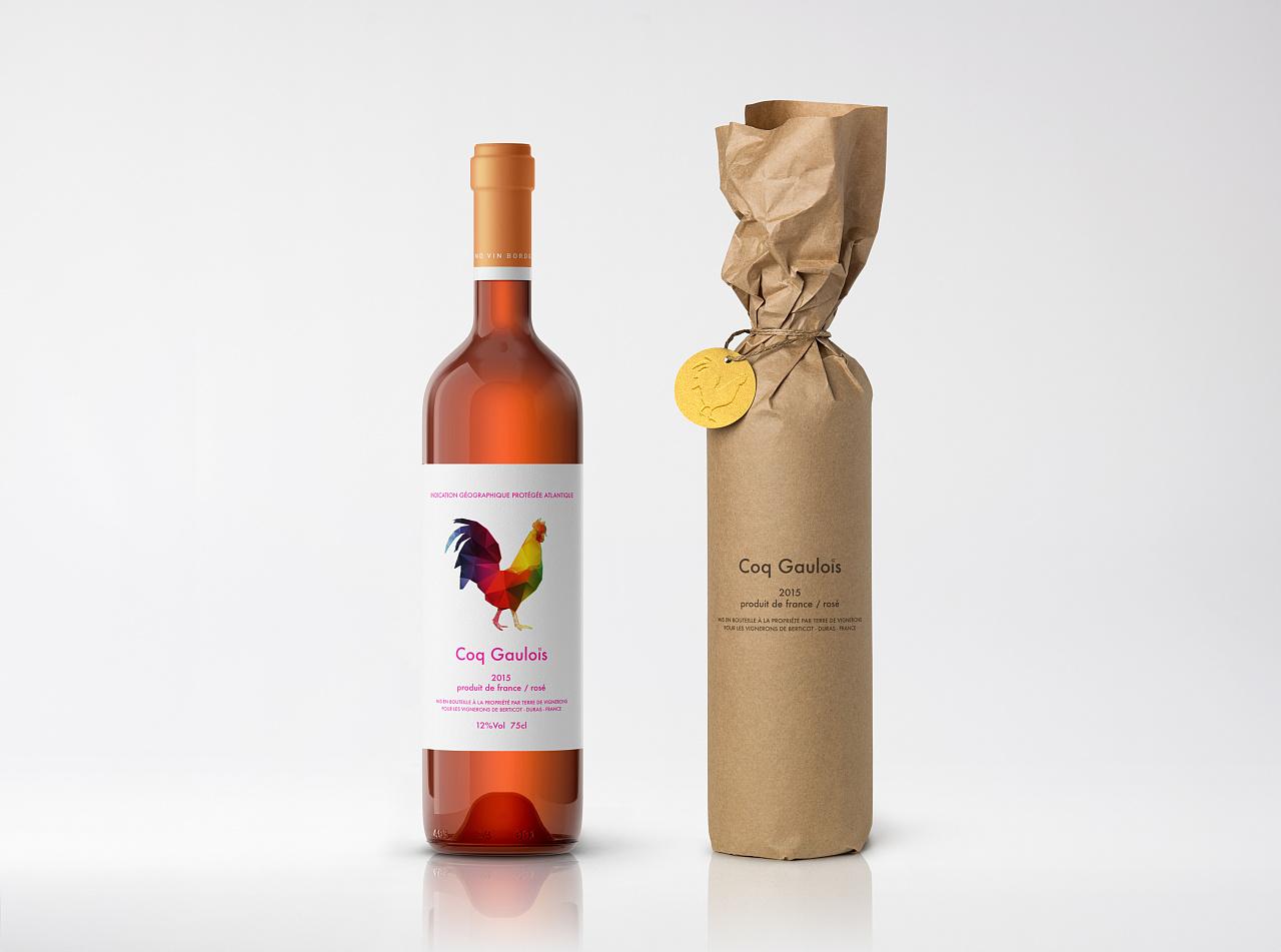 coq gaulois 红酒包装设计图片