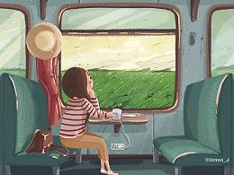 周绘。一个人旅行