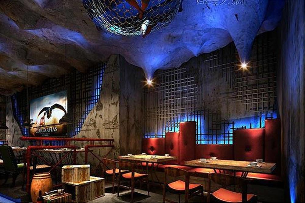 北京火空间设计动力烧烤案例|餐饮|室内设计|海岸设计建筑平面设计一平方多少钱图片