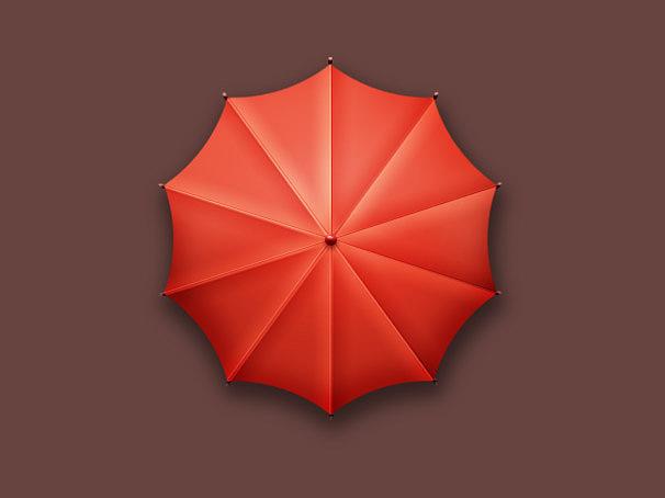 小红伞,从这个里学到了 旋转复制,真棒
