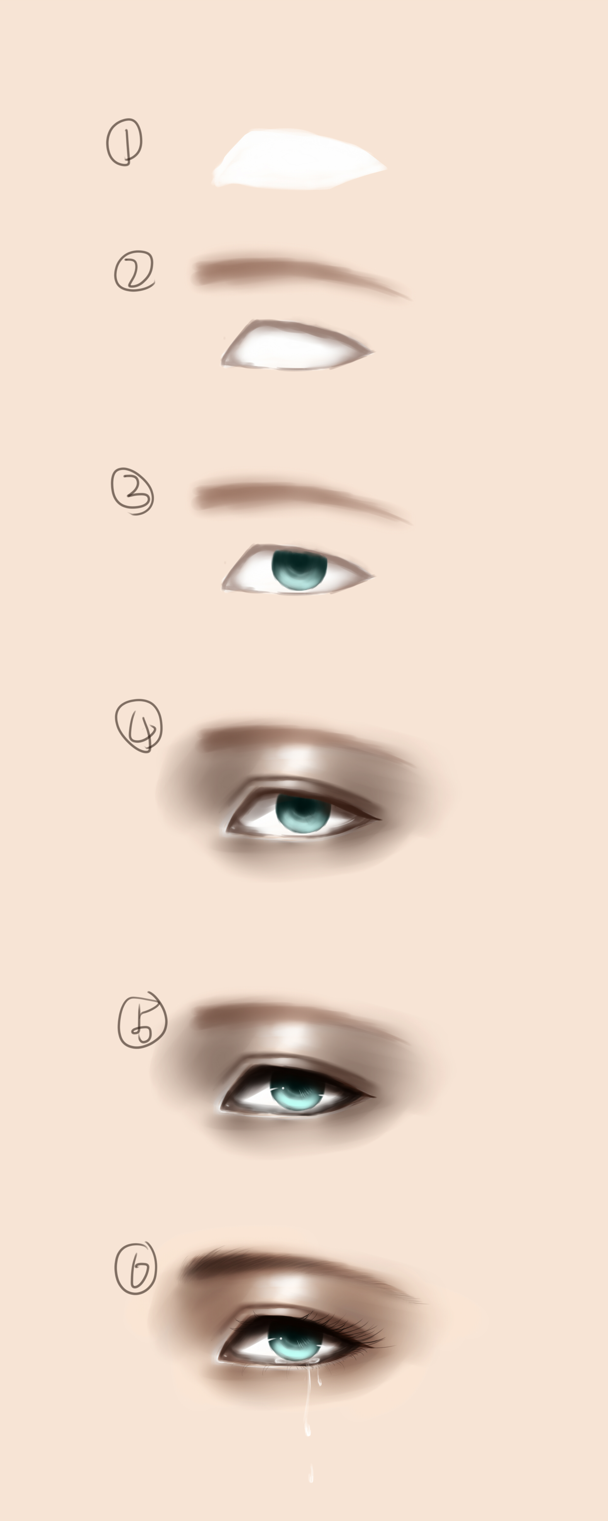 我有一只会流泪的眼睛,另一只眼睛在微笑.