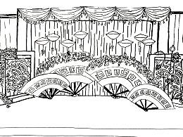 在博雅文化工作的部分婚礼效果图作品