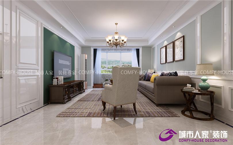 文汇嘉苑140平三室 简美风格装修效果图