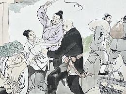 邢台墙绘|二十四孝文化墙彩绘壁画|国画人物彩绘