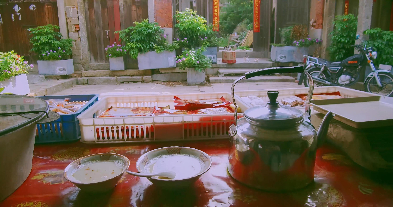 【老街福瑞石狮古早味三合面】永宁意老美食南滨糕点街路图片